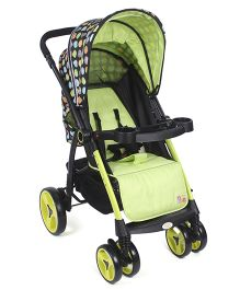 Mee Mee Stroller With Canopy - Green And Black
