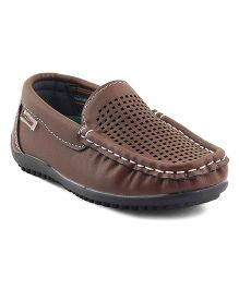 Kittens Shoes Slip On Loafers - Brown