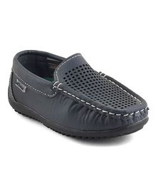 Kittens Shoes Slip On Loafers - Navy