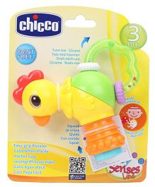 Chicco Easy Grip Rooster Baby Rattle - Yellow Green