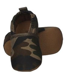 Bootie Pie Slip On Booties Small - Camouflage Olive Green