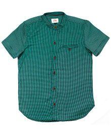 LOL Half Sleeves Printed Shirt - Green