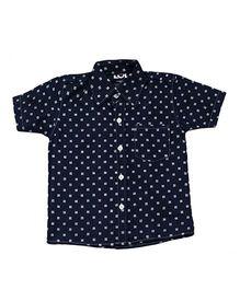 LOL Half Sleeves Shirt Allover Print - Navy Blue