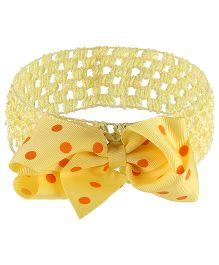Little Cuddle Crochet & Bow Flower Headband - Yellow