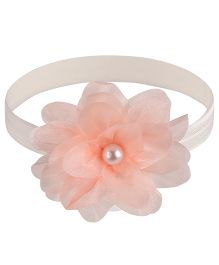 Little Cuddle Flower Design Pearl Headband - Pink