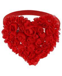 Little Cuddle Flower Heart Headband - Red