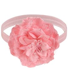 Little Cuddle Big Flower Headband - Light Pink