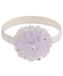 Little Cuddle Flower Headband - White