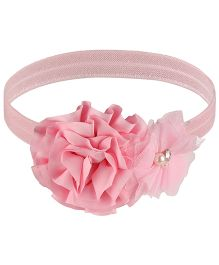 Little Cuddle Flower & Rose Design Headband - Pink