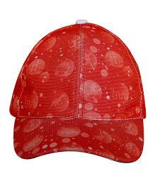 Imagica Elements Printed Kids Cap - Red