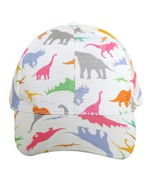 Imagica Allover Dino Printed Kids Cap - Multicolor