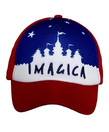 Imagica Castle Printed Kids Cap - Red