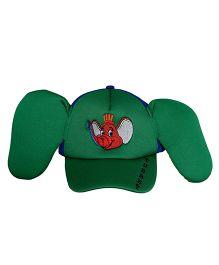 Imagica Elephant Print Kids 3D Cap - Green