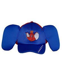Imagica Elephant Print Kids 3D Cap - Blue