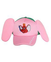 Imagica Elephant Print Kids 3D Cap - Pink