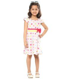 Kids On Board Polka Dot Dress - White
