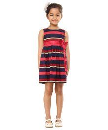 Kids On Board Striped Dress - Multicolor