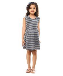 Kids On Board Striped Jersey Dress - Blue