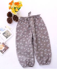 Dazzling Dolls Mini Flower Printed Harem Pants - Light Brown