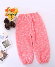 Dazzling Dolls Mini Flower Printed Harem Pants - Dark Pink