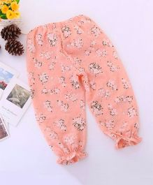 Dazzling Dolls Floral Printed Ankle Length Harem Pants - Peach