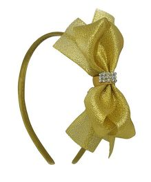 Angel Closet Glitter Bow Hairband - Gold