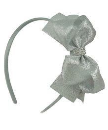 Angel Closet Glitter Bow Hairband - Silver