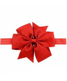 Bellazaara Boutique Ribbon Bow Headband  - Red