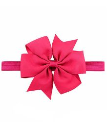 Bellazaara Boutique Ribbon Bow Headband  - Fushia