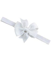 Bellazaara Boutique Ribbon Bow Headband - White