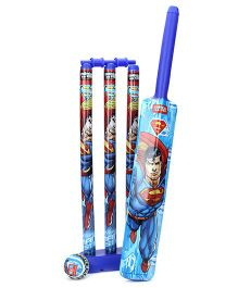 DC Comics Superman Plastic Cricket Set - Blue