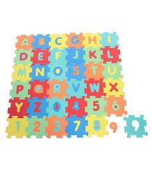 Kiddy Playmat Alphabet And Number Puzzle - MultiColor