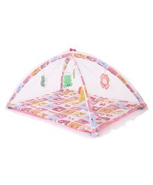 Lovely Baby Play Gym With Net - Red Multicolor