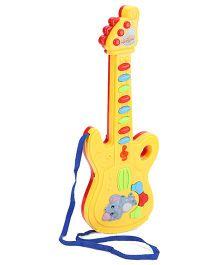 Musical Guitar Elephant Design - Yellow