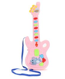 Musical Guitar Elephant Design - Pink