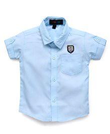 Robo Fry Half Sleeves Shirt - Blue