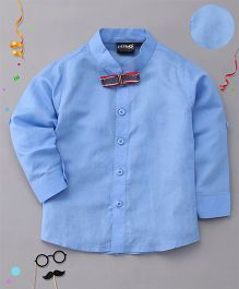 Robo Fry Full Sleeves Shirt With Bow - Blue