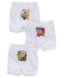 Minions Printed Briefs Pack Of 3 - White