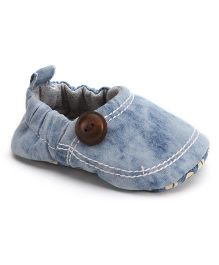 Ivee Baby Denim Soft Sole Shoes For Boys - Blue
