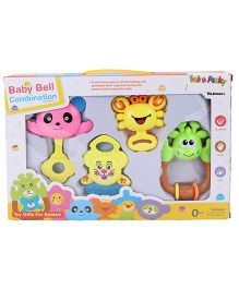 Baby Rattle Set - Pink Green Multi Color