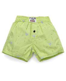 Palm Tree Casual Shorts Multi Print - Green