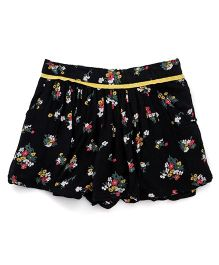 Gini & Jony Floral Shorts - Black