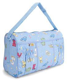 Mee mee Nursery Bag Multi Print - Blue