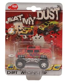 Dickie Eat My Dust Dust Monster Truck Assorted - Red