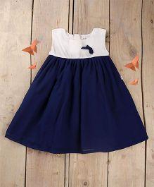 Tiny Toddler Pretty Summer Dress - Navy Blue