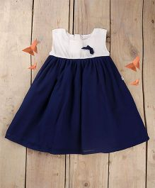 Tiny Toddler Pretty Summer Dress - Navy Blue