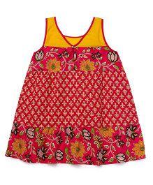 Alpna Kids Printed Tunic - Fuchsia