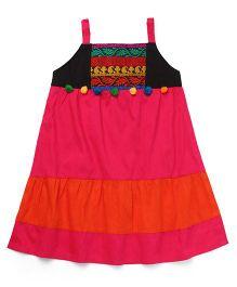 AlpnaKids Ethnic Tunic Top - Rani & Orange