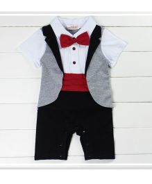 Dells World Adorable Jacket Attached Romper Bow - Multicolour