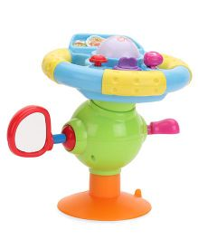 Happy Mini Steering Wheel Musical Toy - Multicolor